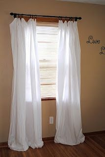 diy curtains out of bed sheets