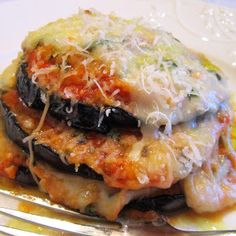 Slow cooker eggplant Parmigiana.Eggplants with Parmesan cheese,mozzarella and bread crumbs cooked in slow cooker.Yummy!!! Delicious!