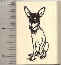 Rat Terrier Rubber Stamp dog, rat terriers