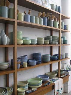 A lot of ceramic