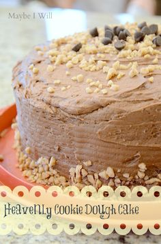 Heavenly Cookie Dough Cake