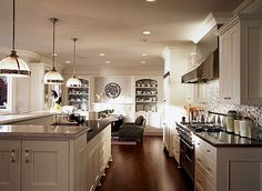 Great kitchen and hearth room.