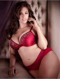 Ashley Graham at her finest!  The sexy red lingerie she wore in Lane Bryant's 2011 fashion show.