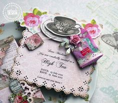 You are Invited: High Tea Invitations — Pink Paislee by DT member Steph Devlin