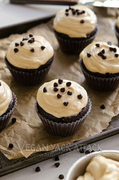 Chocolate Cupcakes with Peanut Butter Cream Cheese Frosting