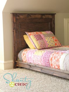 *Pottery Barn Inspired Twin Platform Bed Instructions - Made for only $30!