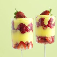 Amaretto Custard Berry Parfaits - recipe from Taste of Home.
