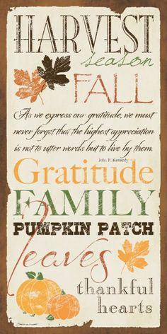 ♥ Harvest~Fall~Gratitude~Family~Leaves~Thankful Hearts ♥
