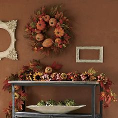 Pumpkin Wreath and Pumpkin & Sunflower Garland from Through the Country Door®