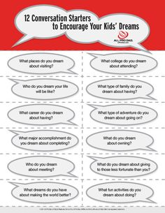 12 Conversation Starters to Encourage Your Kids' Dreams #allprodad #dreams #conversationstarters #printable