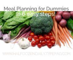 Menu Planning for Dummies in 6 Easy Steps!