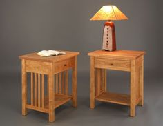 Crofters Nightstand in Natural Cherry