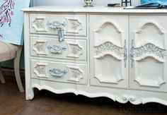 Salvaged Inspirations | Featuring Pleasant Pickin's Open House | Chalk Painted White-Dresser