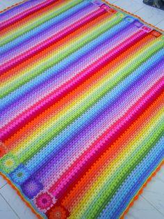granny stripes and squares blanket