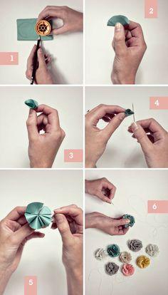 DIY Fabric Flower.