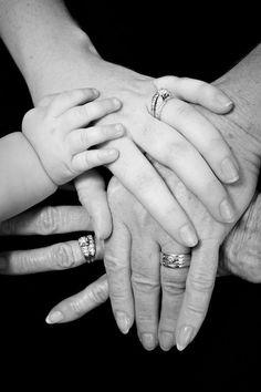 4 Generation hands photo