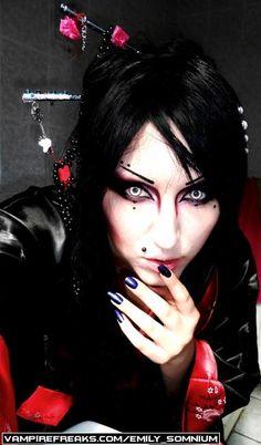 #Vampirefreaks #Goth girl from the UK Emily Somnium
