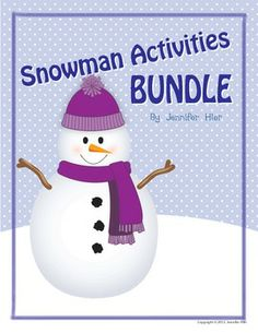 snowman activities bundle: preschool and early childhood activities preschool