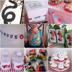 Car-themed birthday party