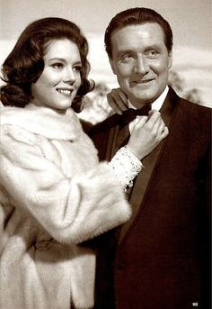 Diana Rigg and Patrick Macnee in 'The Avengers' .