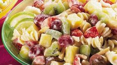 Fruity Pasta Salad with Yogurt Dressing