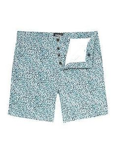 Buy the Farah Vintage Hobart Patterned Slim Tailored Chino Shorts  £55.00