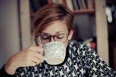 short hair, sweater, hair colors, glasses, drinking, teas, hot drinks, coffee cups, mornings