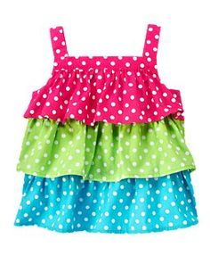 Tiered Ruffle Top from Gymboree - LOVE this! Could I make it myself??