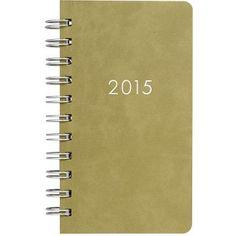 2015 Paper Source Mini Moss Date Book