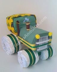 Picture: John Deere Tractor Diaper Cake provided by Baby Favors And Gifts Brooklyn, NY 11234