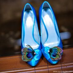 Peacock Feather Shoe Clips - $40.00 - Etsy