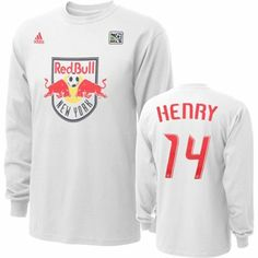 adidas Thierry Henry New York Red Bulls Youth Name & Number Long Sleeve T-Shirt