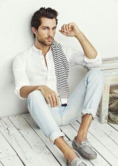 summer fashions, fashion styles, guy pose, white shirts, men style