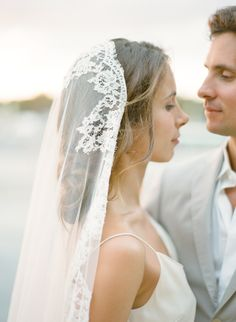 In LOVE with this lace edged Mantilla veil