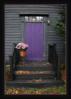 One of these days I'm going to have a purple door like this.