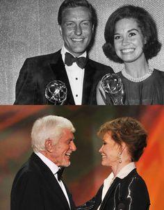 Dick Van Dyke & Mary Tyler Moore in 1963 & 2012