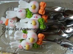 *SORRY, no information as to product used ~ Colheres para ovos(brigadeiro de colher) by Rafa Pereira, via Flickr
