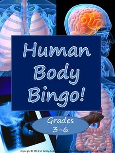 bingo game has a blank bingo card template for your students to customize and PLENTY of science review questions to make a complete game! Body systems covered:  Skeletal  Muscular  Digestive  Circulatory  Respiratory    Don't teach all of them? Just pick and choose from the questions you DO cover—there should be plenty for you to customize this game to match your instruction. Gr. 3-6