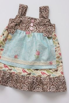 Fall Sparrow Apron Knot Dress - Sizes 0-3m to 5T - Larger Sizes Avail. -. $36.00, via Etsy.
