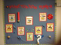 Add some punctuation power to writing! The giant punctuation was made with Dollar Store items!