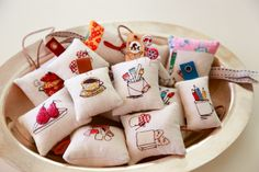 Adorable Embroidered DIY Mini Pin Cushions