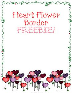 Smiles will bloom on your Valentine projects with this sweet 'Heart Flower Border FREEBIE!' Available only through 2/5/14!