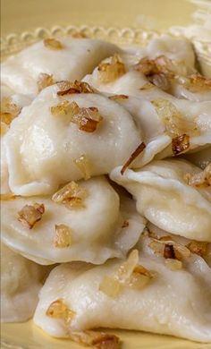 potatoes pierogi cooking recipe caramel onions pasta dishes pierogies ...