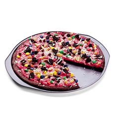 Kids recipe- brownie pizza...brownie, frosting, toppings
