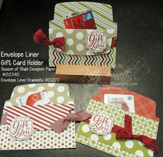 Envelope-liner-gift-card holders- Patty Bennett - details on how to make are in the post.