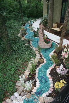 landscap rock, glass landscaping rocks, fairy garden rocks, recycl rock, recycled glass landscaping, recycl glass