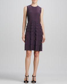 FENDI Sleeveless Ribbon-Skirt Dress