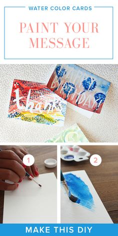 DIY Watercolor Cards Project | Paint Your Message
