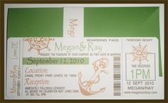 Custom Creations Party Place: Megan's Cruise Ship Boarding Pass