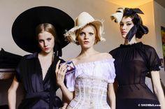 Sasha Luss and Hanna Gaby Odiele at Ulyana Sergeenko Spring/2013 Haute Couture Backstage, Photo Douglas Bassett